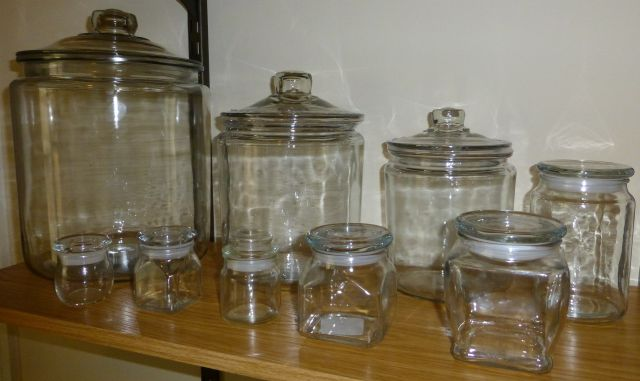 jars from 1/2 cup to 2 gallon